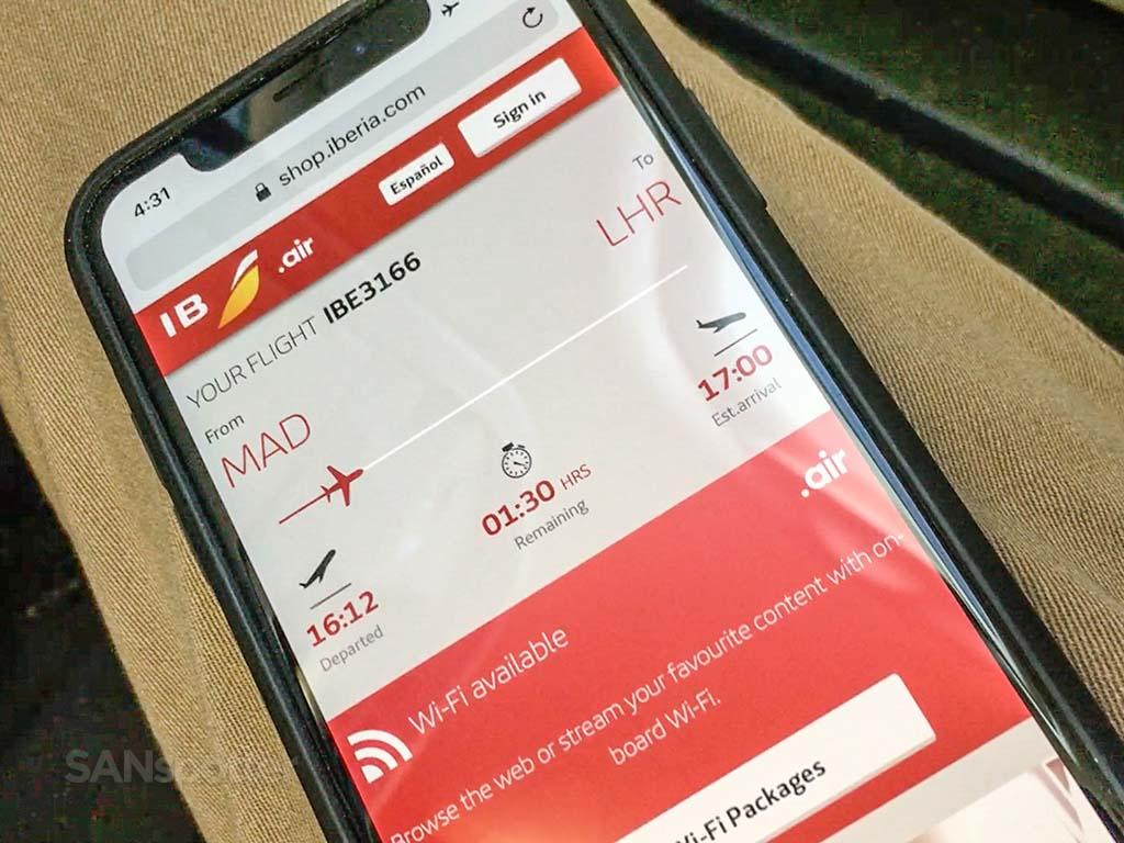 Iberia mobile app