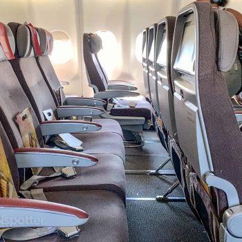 Iberia a340-600 economy class seats