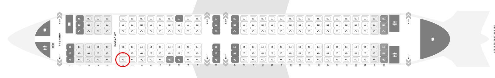 Ryanair 737-800 seat map