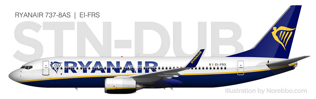 Ryanair 737-800 side view