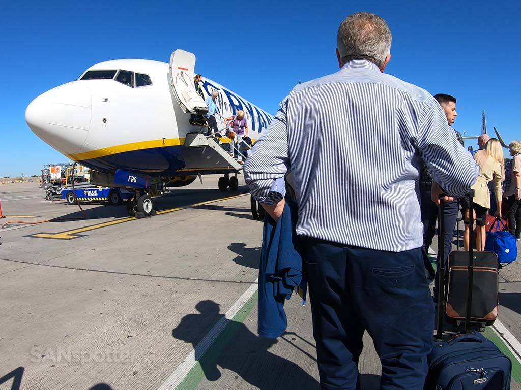 Boarding Ryanair FR225 Stansted Airport