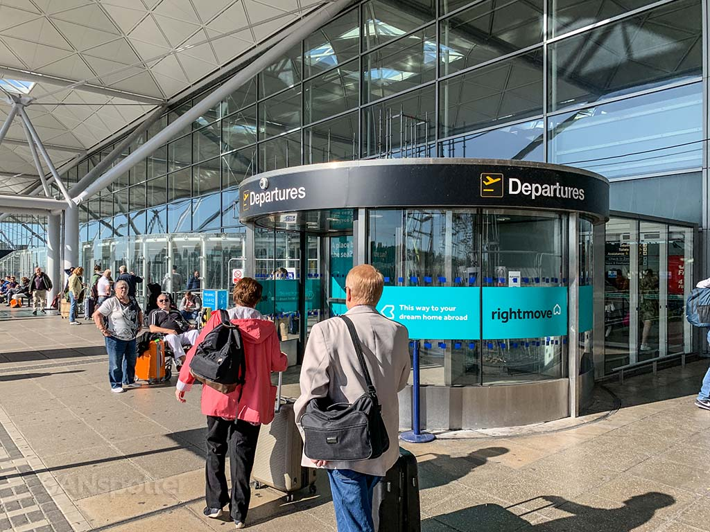 Stansted Airport entrance