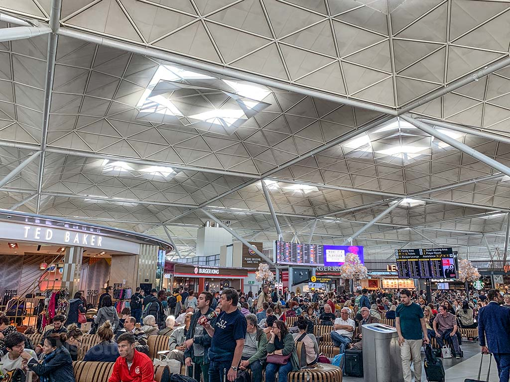 Stansted Airport crowded