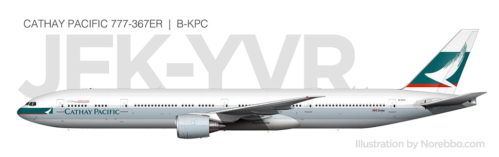 Cathay Pacific 777-300ER side view