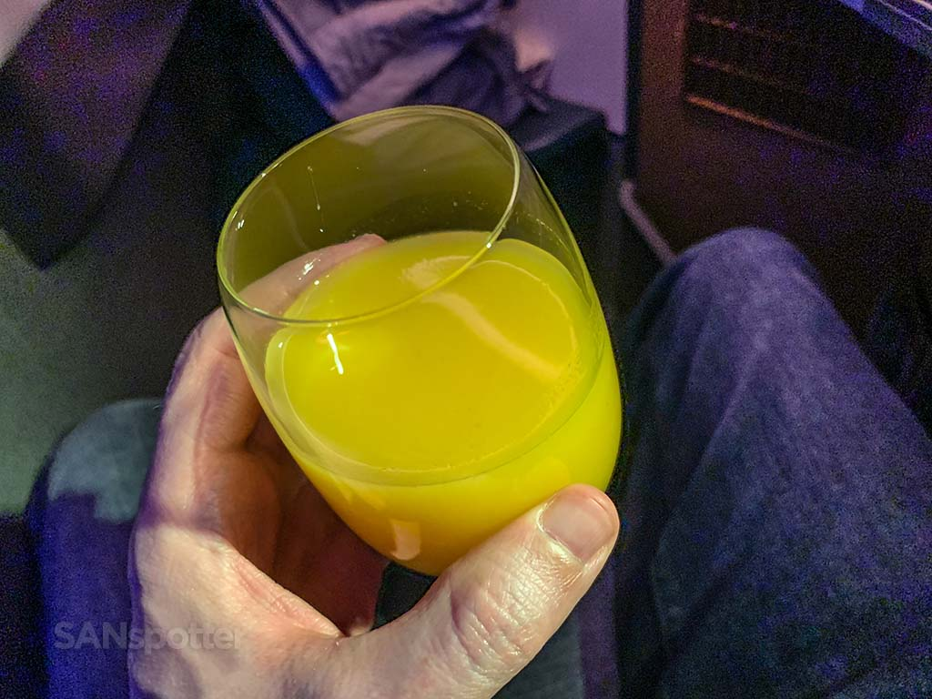 Cathay Pacific business class drinks