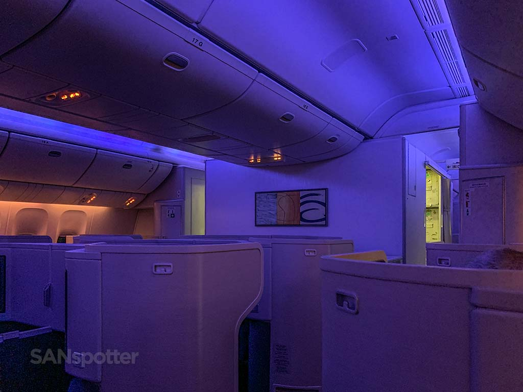 Cathay Pacific mood lighting