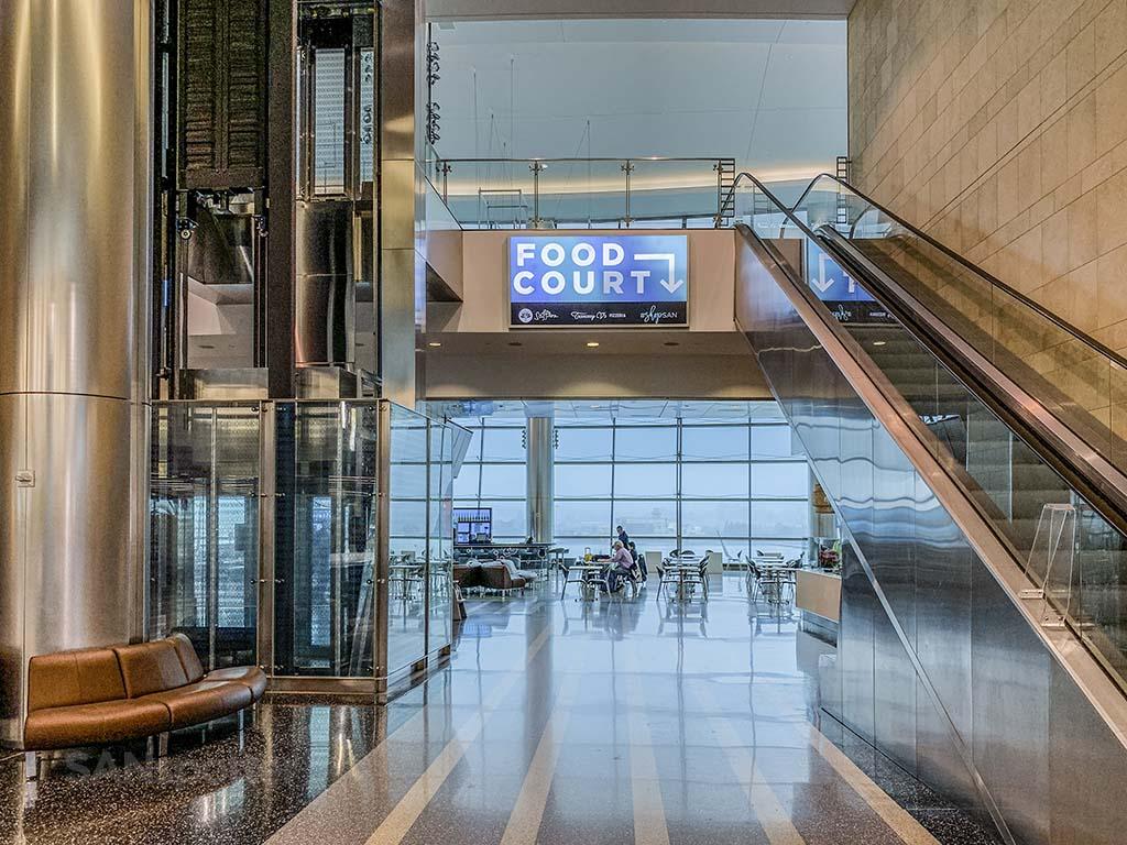 Terminal 2 West food court San Diego Airport