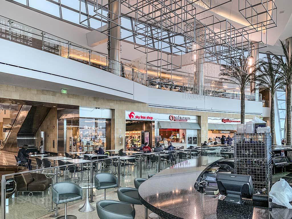 Terminal 2 West food court San Diego Airport
