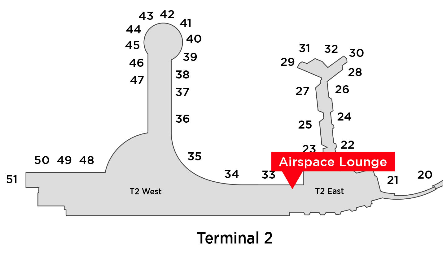 airpsace lounge map location san diego airport