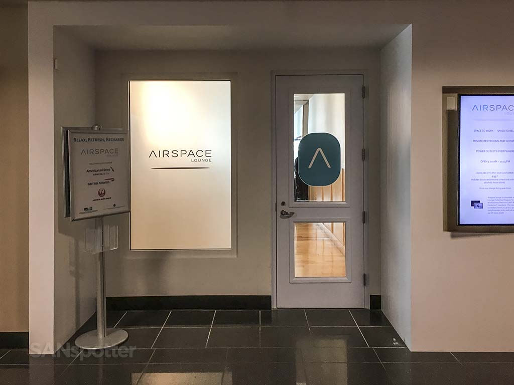 entrance to the San Diego Airspace lounge