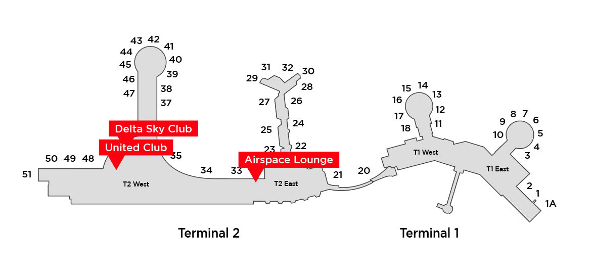 san diego airport lounge map