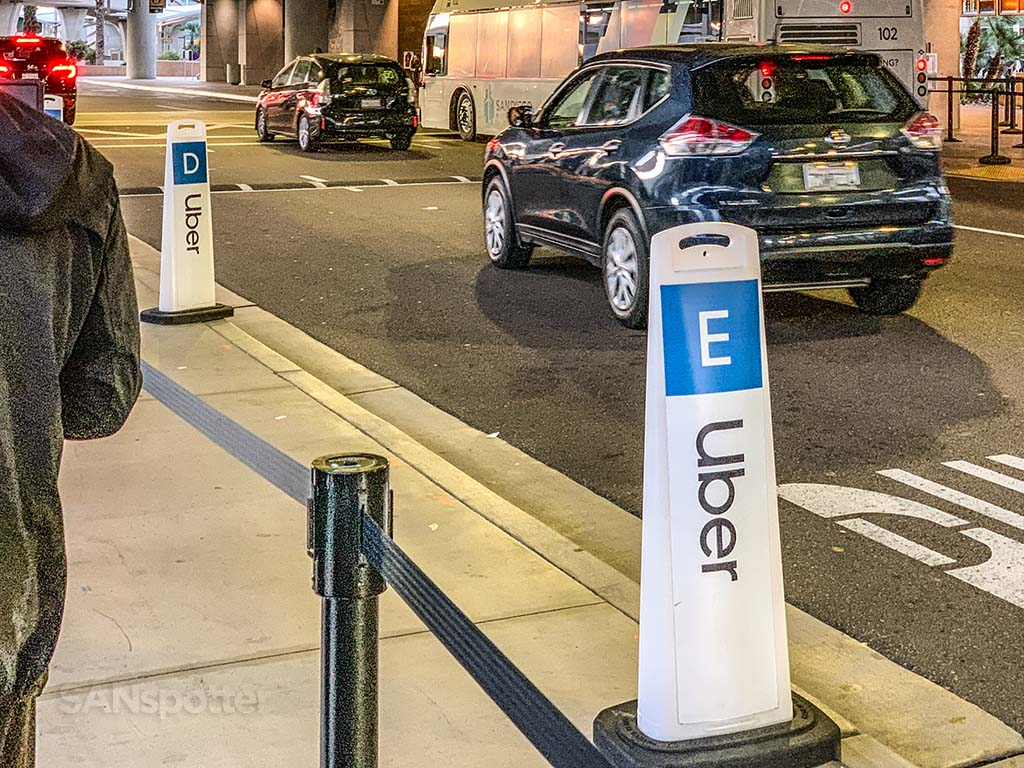 Uber system San Diego Airport