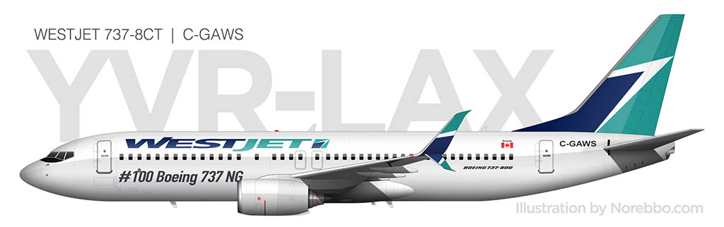 WestJet 737-800 side view