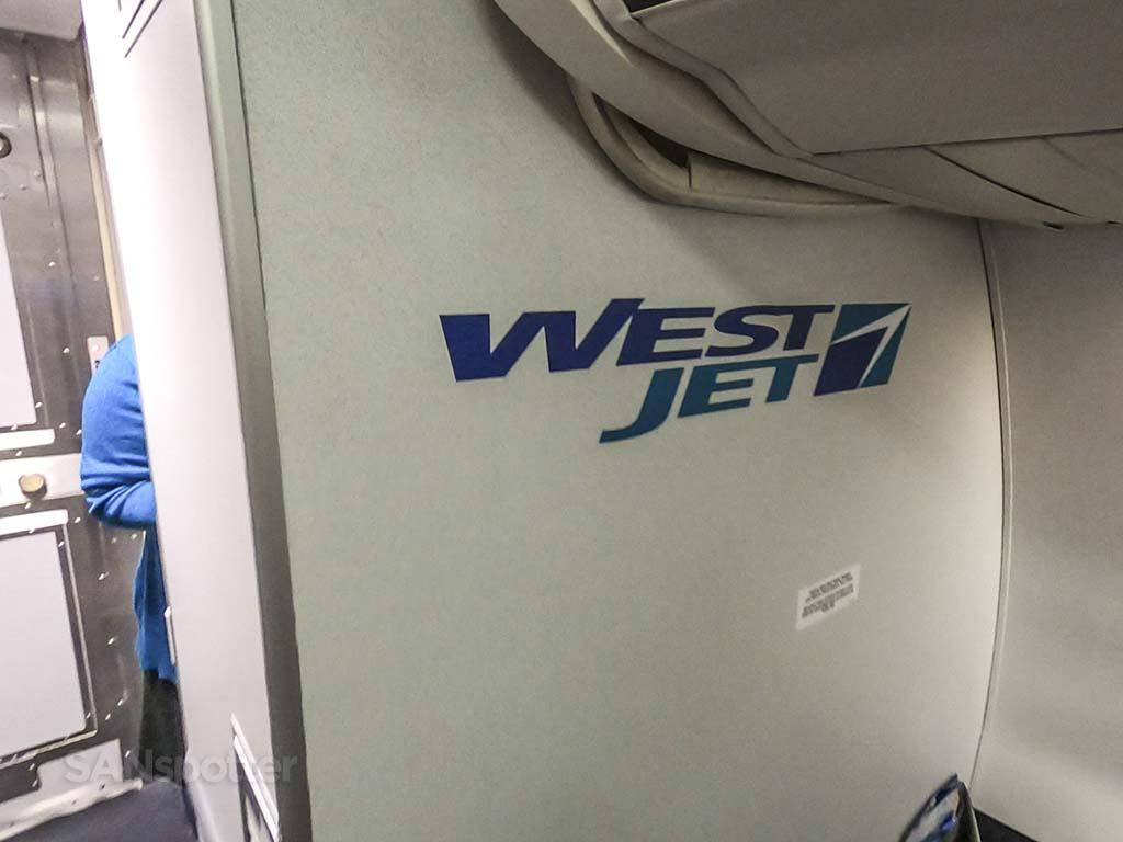 westjet 737 bulkhead wall