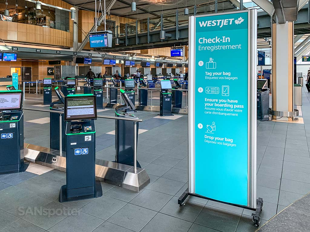 WestJet check in YVR