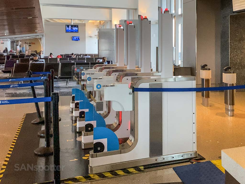 LAX automated boarding gate