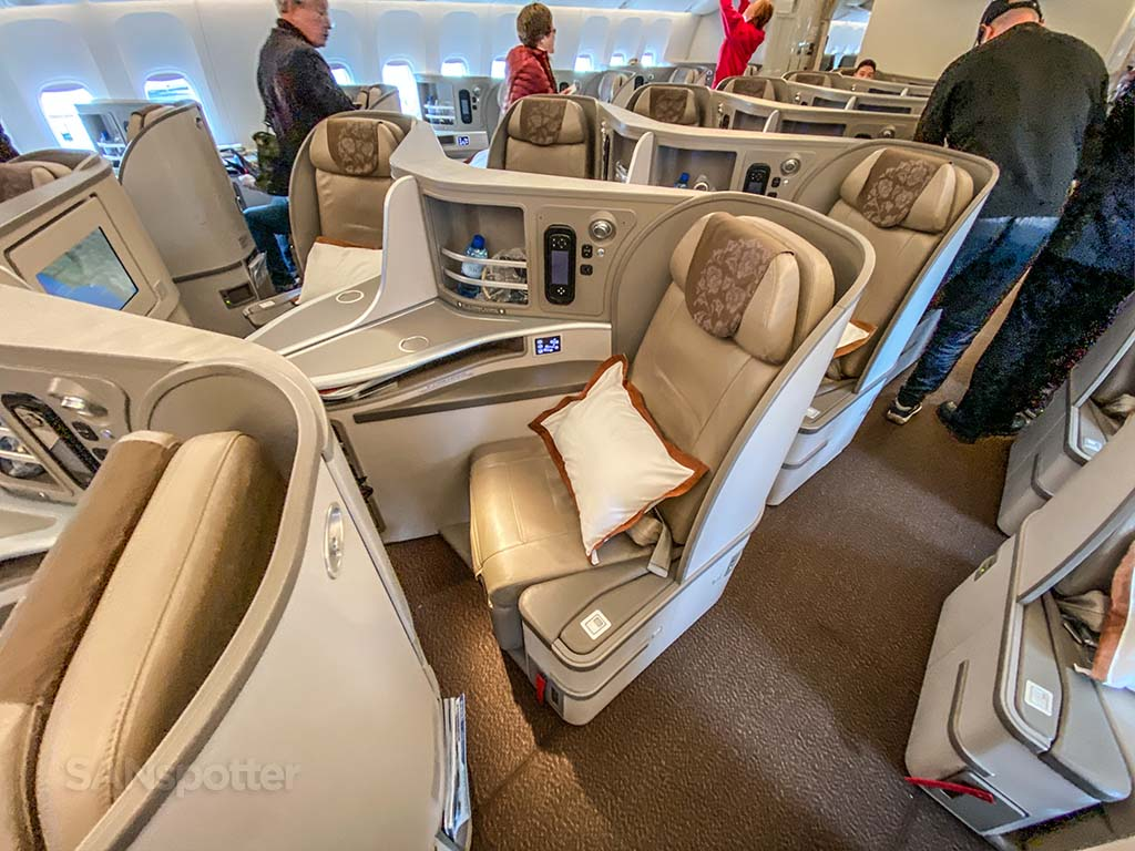 China Eastern 777-300/ER business class cabin