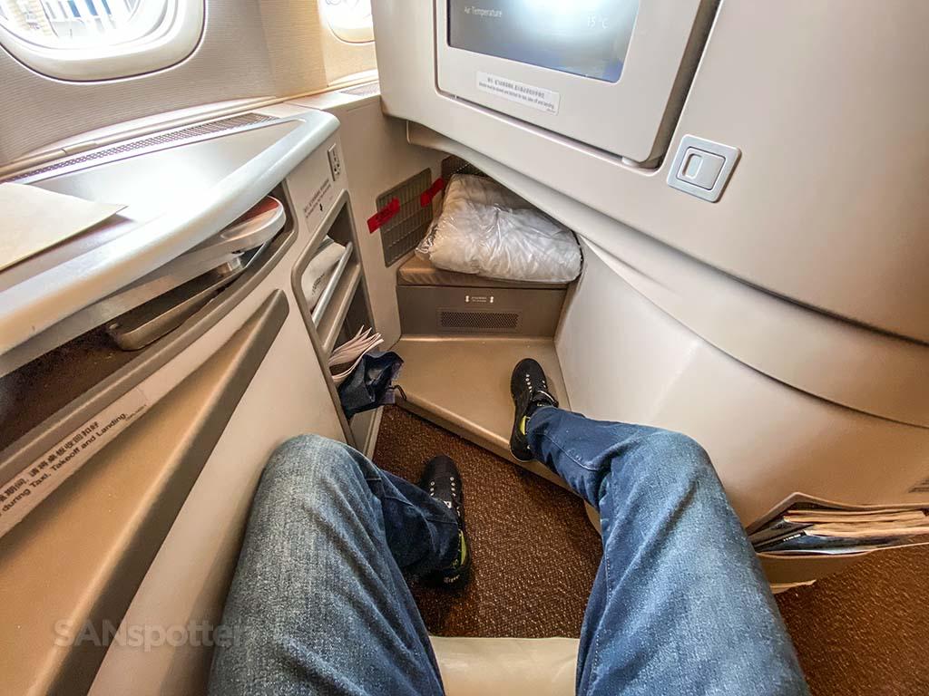 China Eastern business class leg room