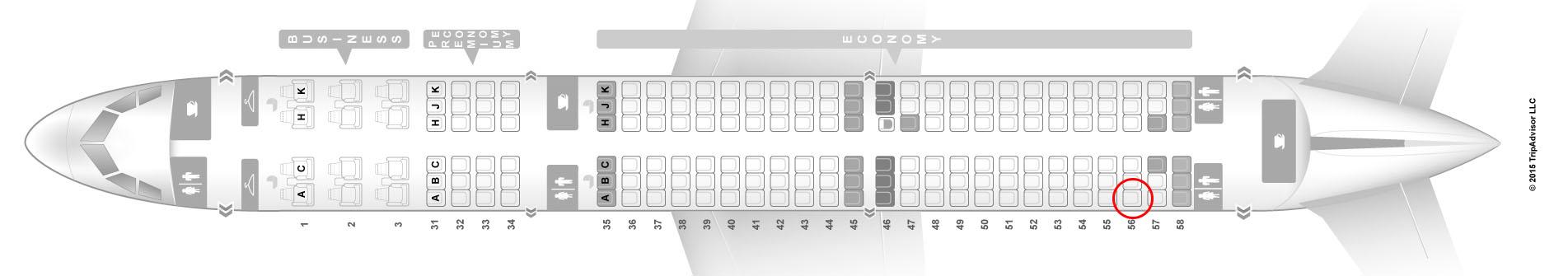 China Southern A321 seat map