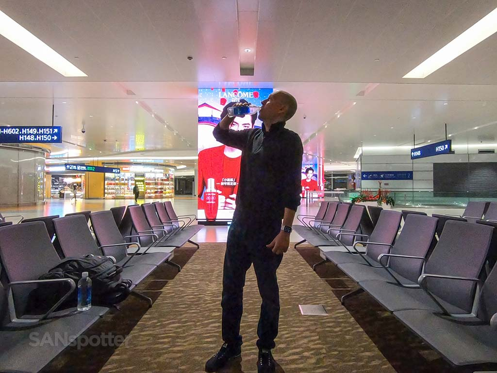 SANspotter selfie PVG airport