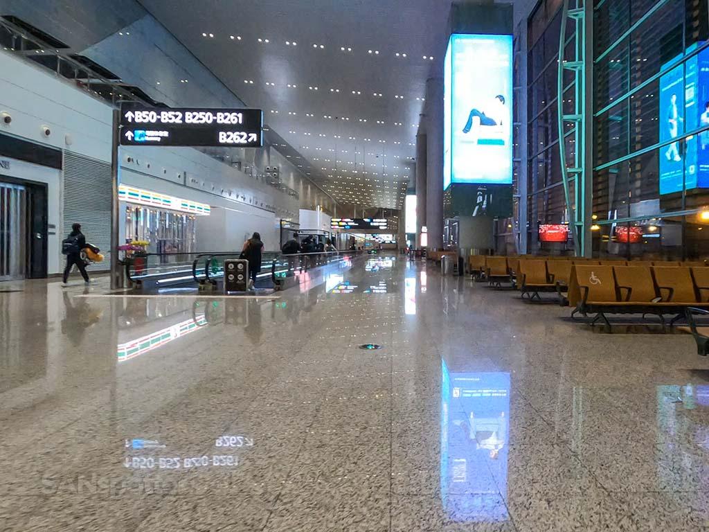 Guangzhou airport terminal interior