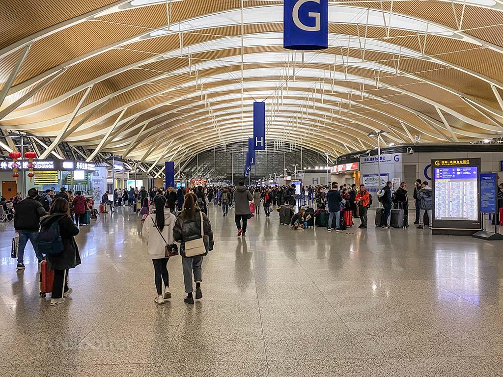 Shanghai airport departures hall