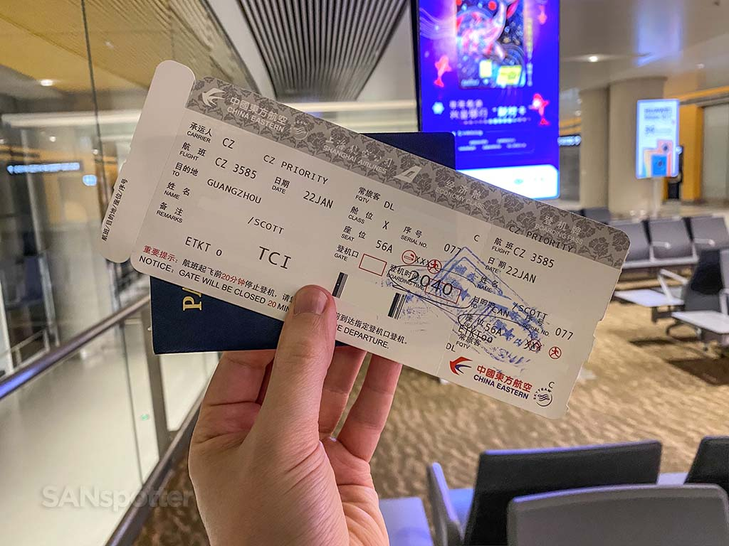 china southern airlines boarding pass