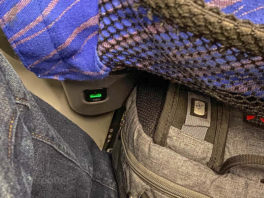 China southern economy class power outlets