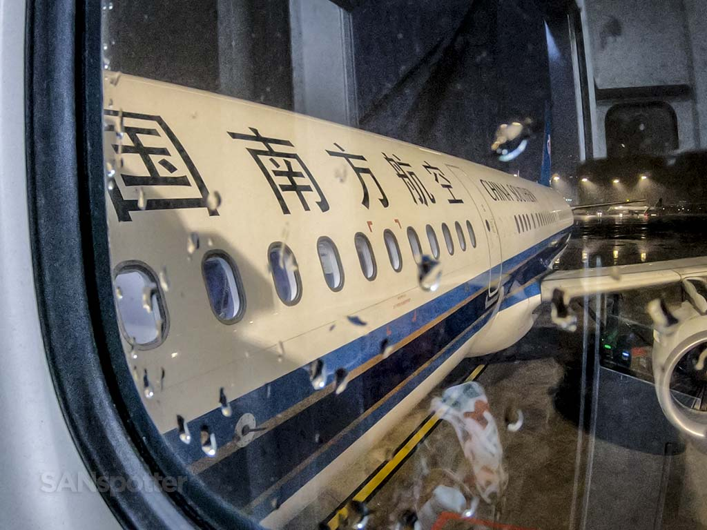 china southern airlines a321 close up