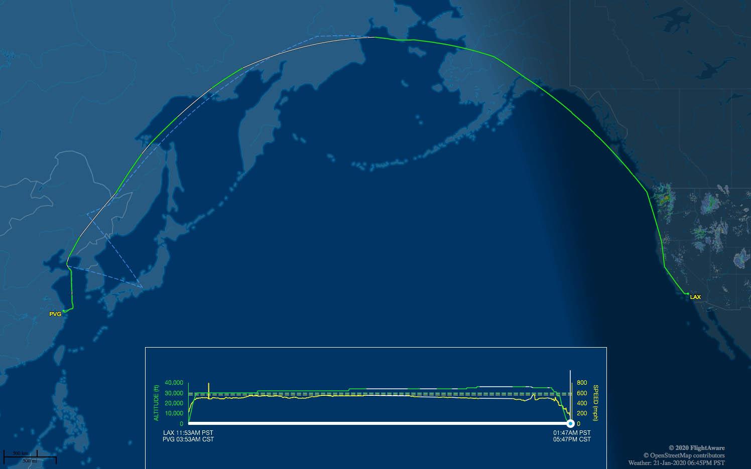 MU586 flight track