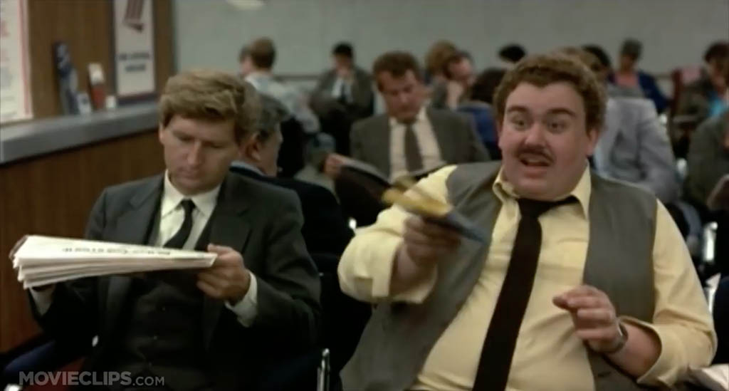 Planes trains and automobiles airport scene