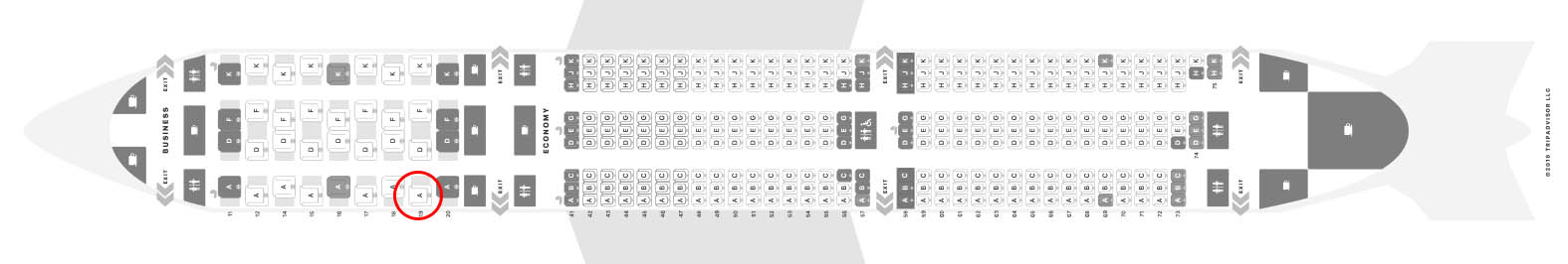 Singapore Airlines 787-10 seat map