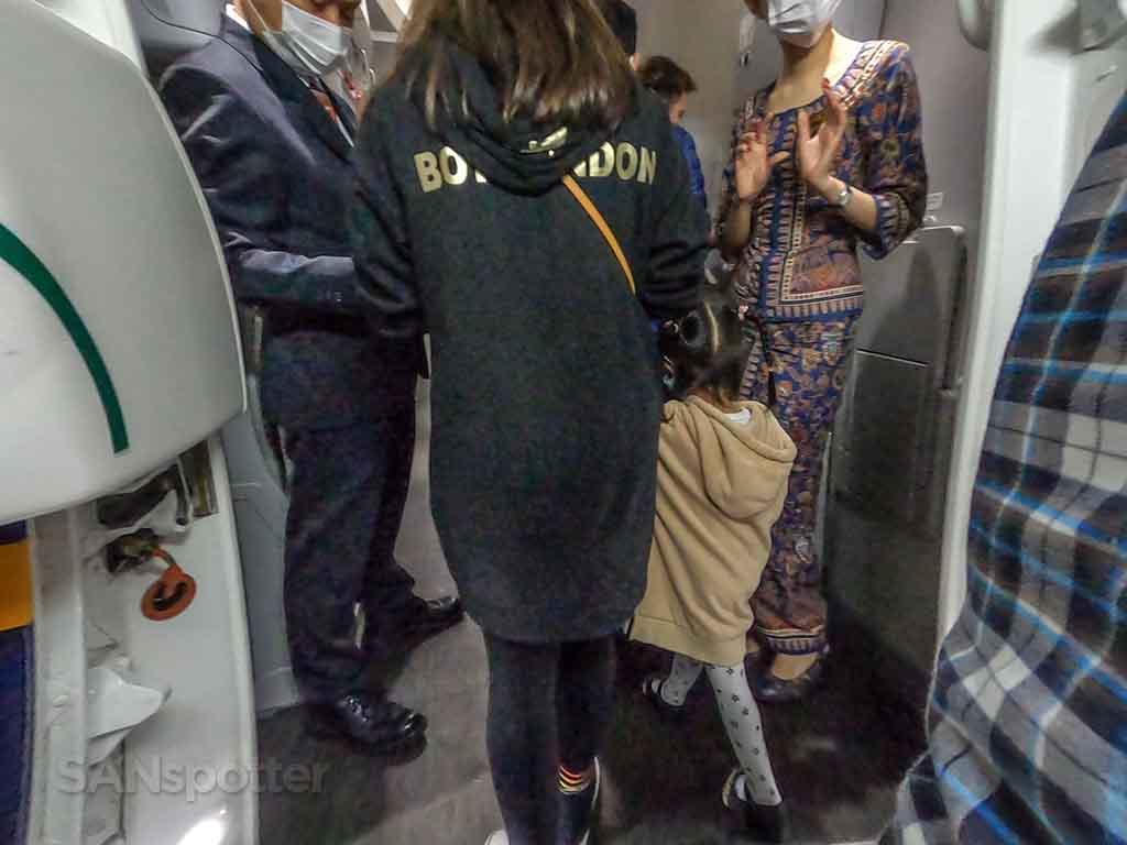 Singapore Airlines 787-10 boarding door