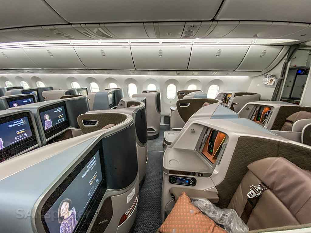 Singapore Airlines regional business class cabin