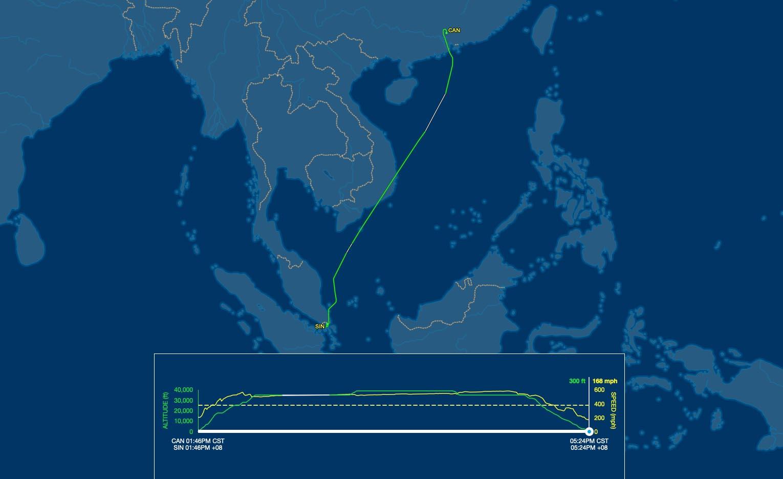 sq851 flight track