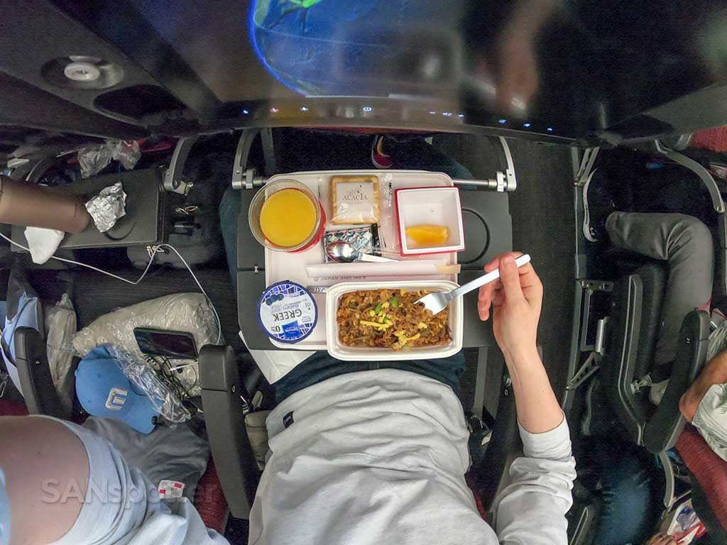 JAL economy meal review
