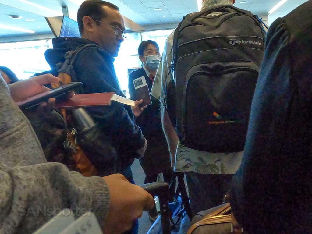 JAL gate agent San Diego