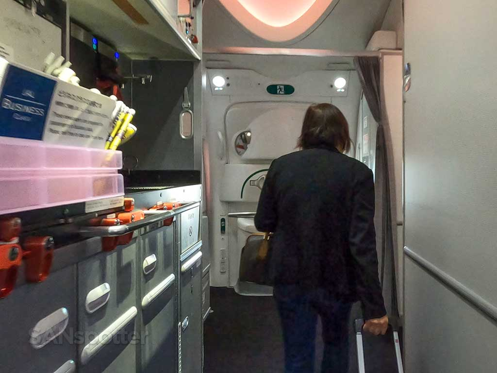 JAL 787-8 forward galley