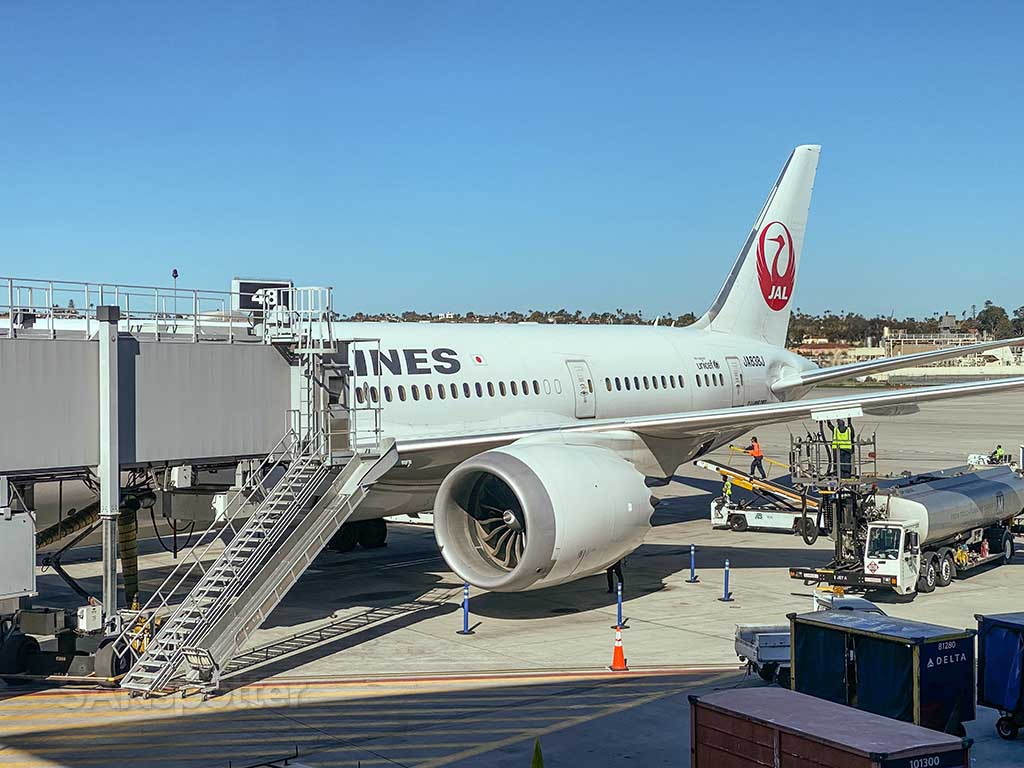 Japan Airlines 787-8 San Diego airport