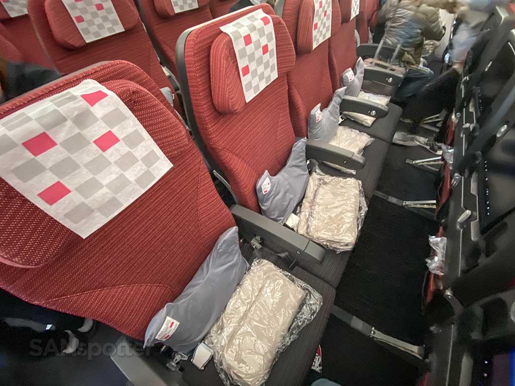 JAL 787-8 economy class seats