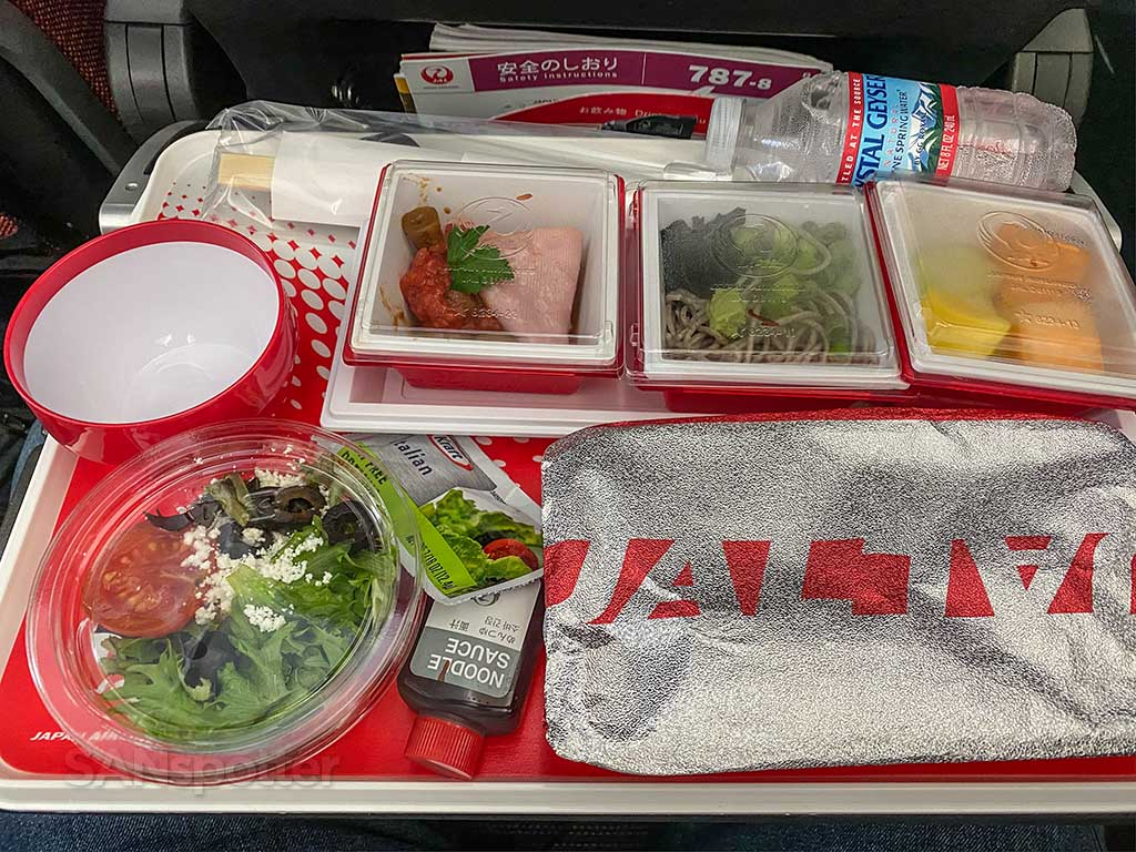 JAL economy meal