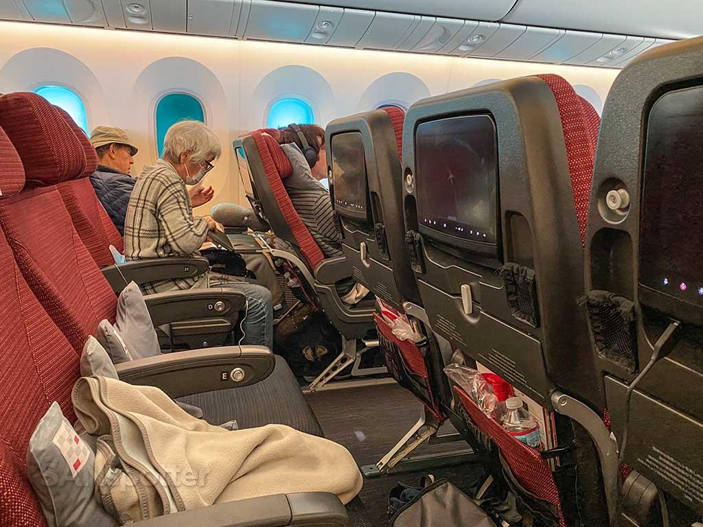 JAL economy passengers