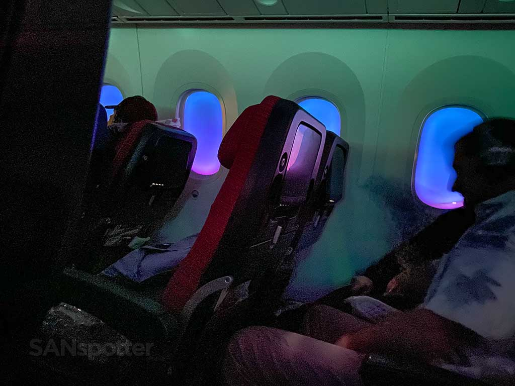 sleeping in JAL economy