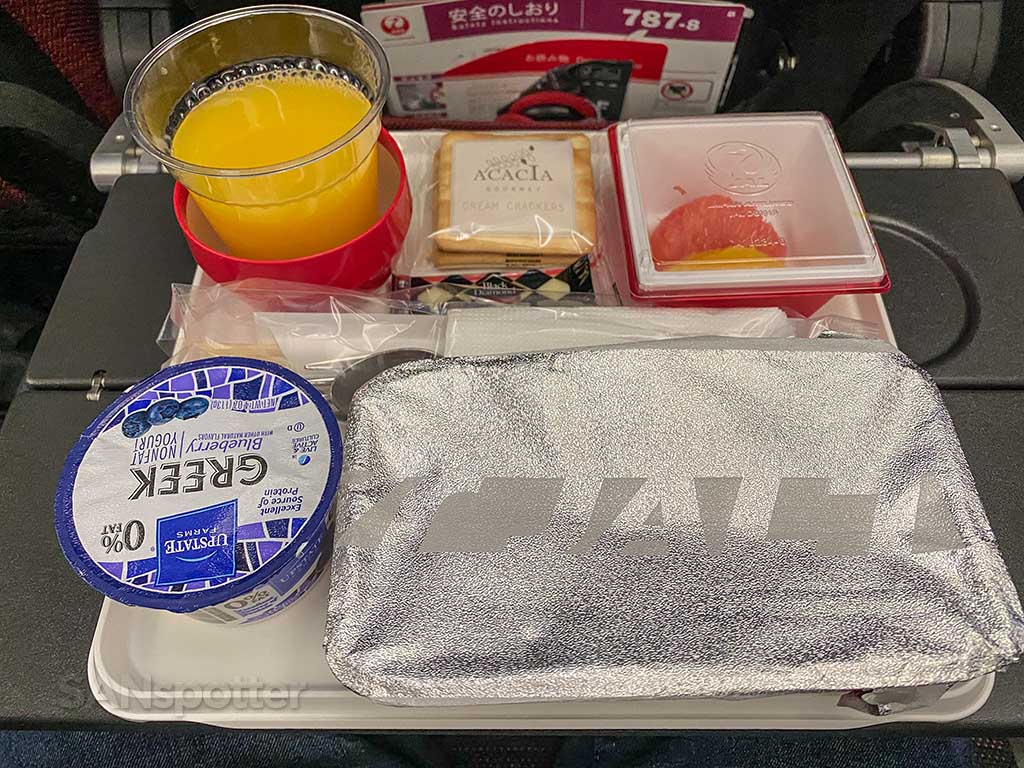 JAL Economy breakfast