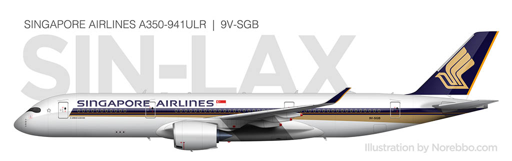 Singapore Airlines A350-900ULR side view