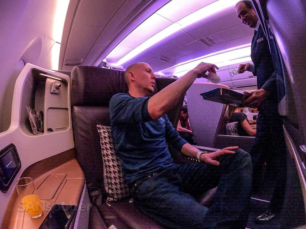 SANspotter selfie Singapore Airlines A350 Business Class
