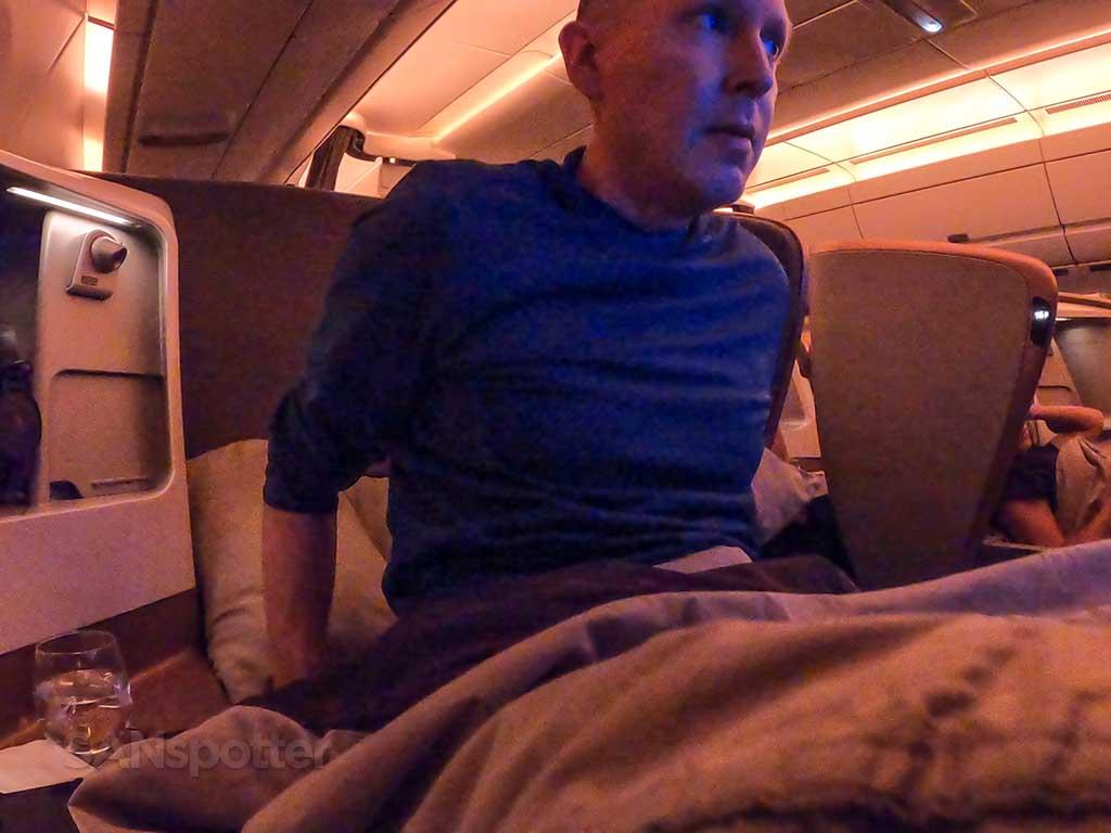 SANspotter Singapore Airlines A350 Business Class lie flat seat