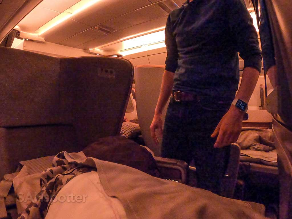 Singapore Airlines A350 Business Class seat confusion