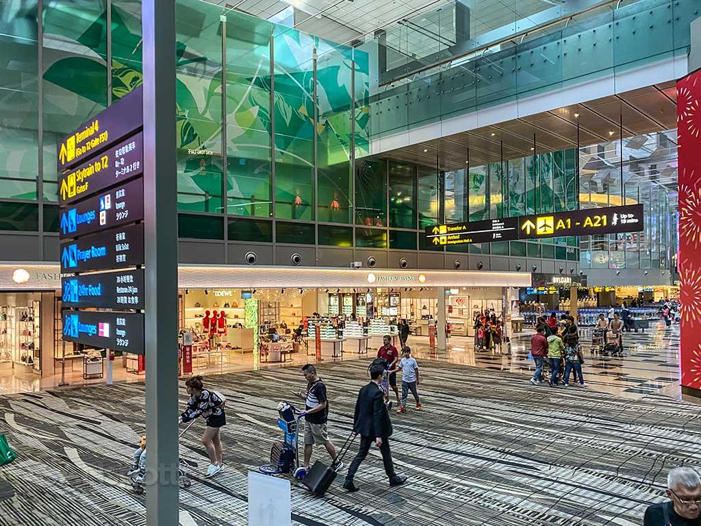 Changi Airport transit area