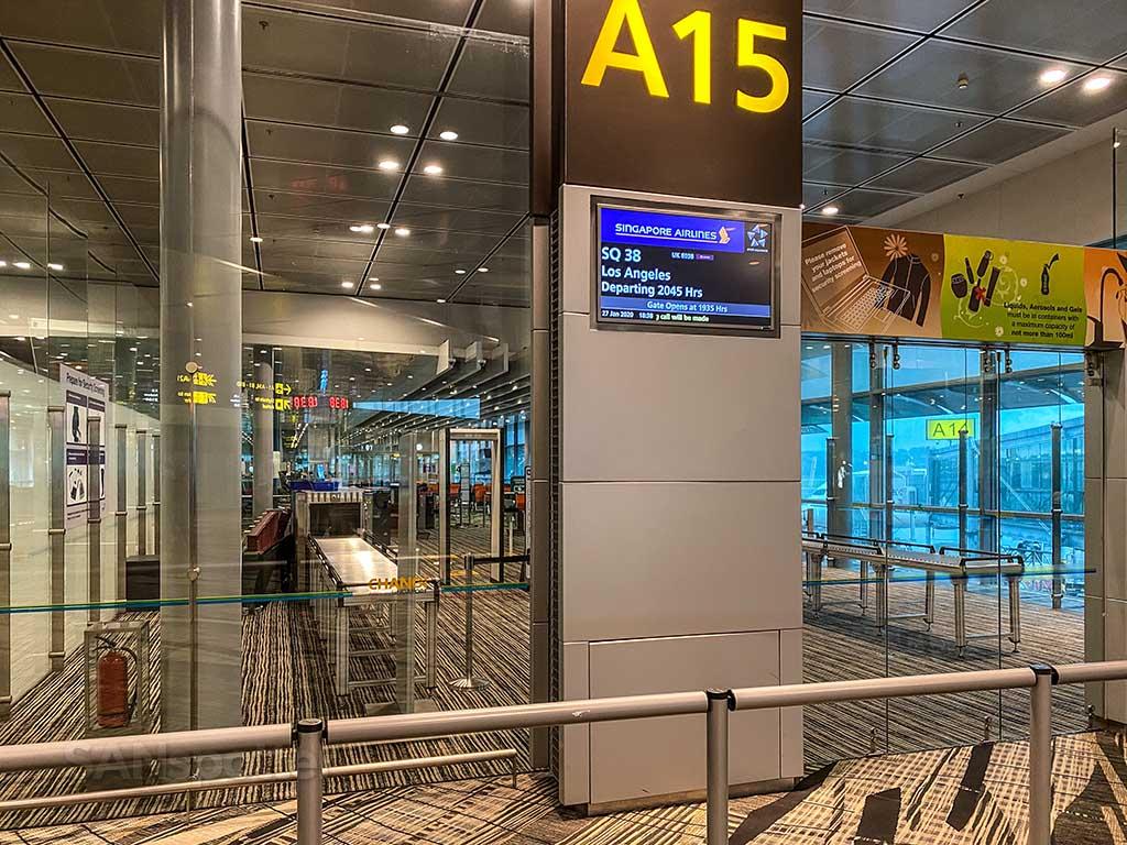 Gate A15 Changi Airport